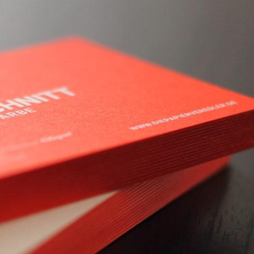 visitenkarten mit farbschnitt sonderfarbe die papierveredler. Black Bedroom Furniture Sets. Home Design Ideas