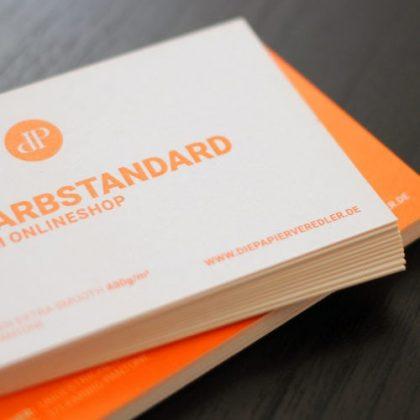Visitenkarten Mit Farbschnitt Sonderfarbe Die Papierveredler