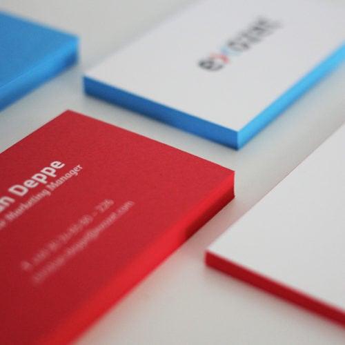 Farbschnitt Visitenkarten in Sonderfarbe