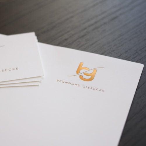 Visitenkarten und Briefpapier mit Heißfolienprägung