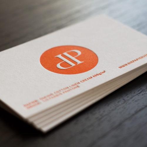 Visitenkarten Gmund Cotton 600 g/qm mit Letterpress