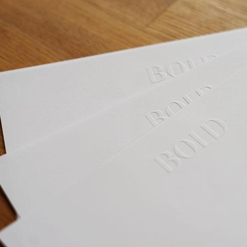 Blindgeprägte Briefpapiere