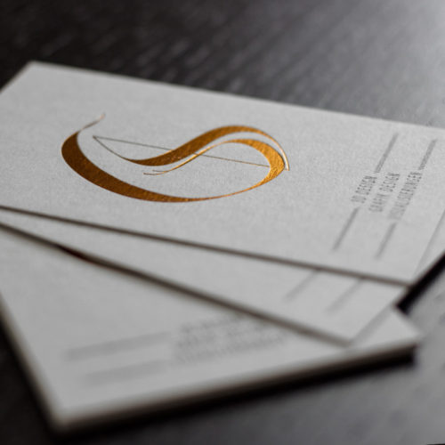 Colorplan Pale Grey Visitenkarten mit Heißfolie und druck