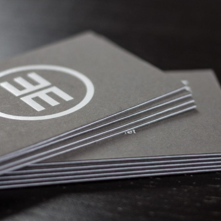 Schicht Visitenkarten Stark Kaschiert Die Papierveredler