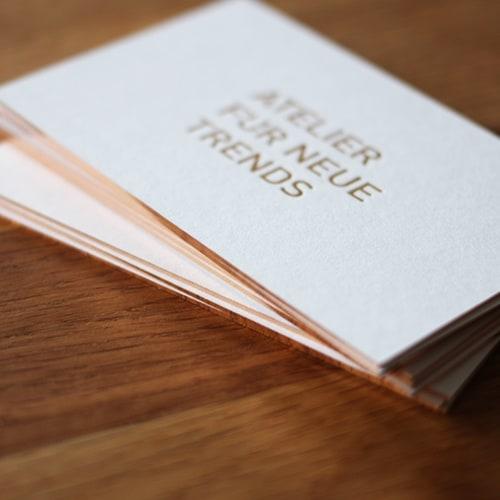Karten Visitenkarten mit Folienschnitt und Letterpress auf GMUND cotton