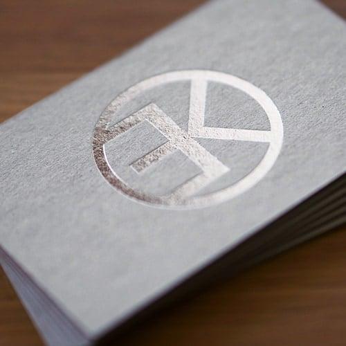 Graukarton Visitenkarten Mit Heißfolienprägung