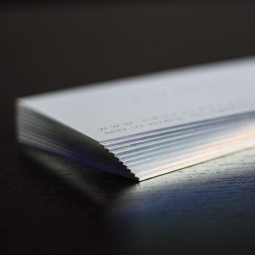 Karten mit Folienschnitt in light line laser reflektierend