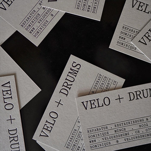 Visitenkarten mit Letterpressdruck