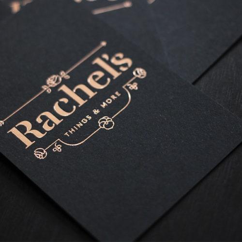 Visitenkarten mit roségold Heißfolienprägung