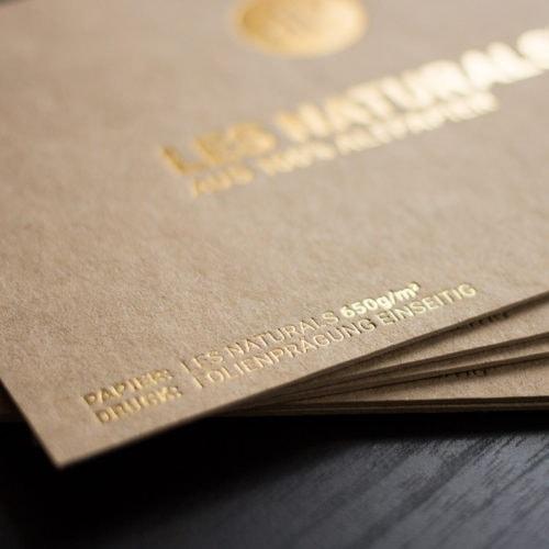 Les Naturals 650g Karten Visitenkarten mit Heißfolienprägung