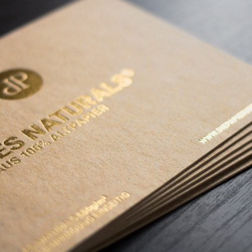 Les Naturals Karten mit Folienprägung gold