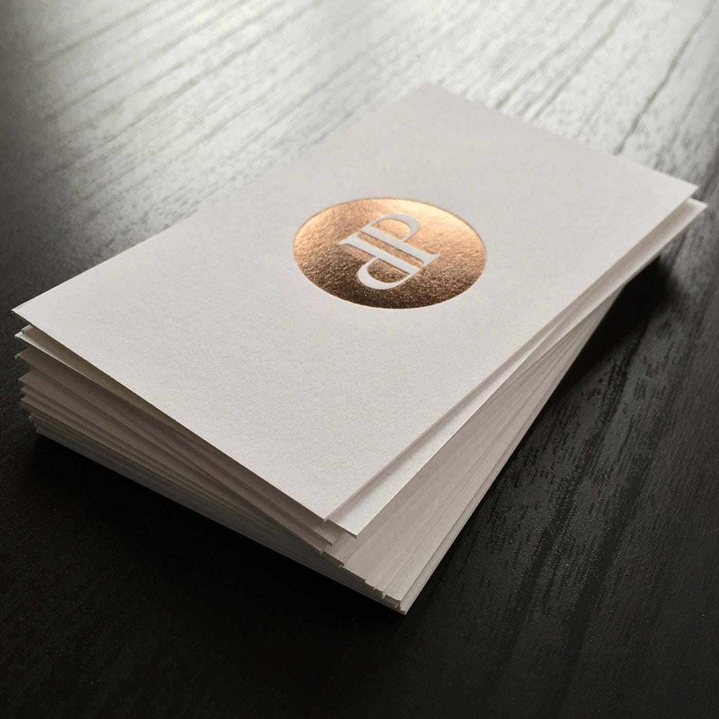 Visitenkarten mit Folienprägung metallic
