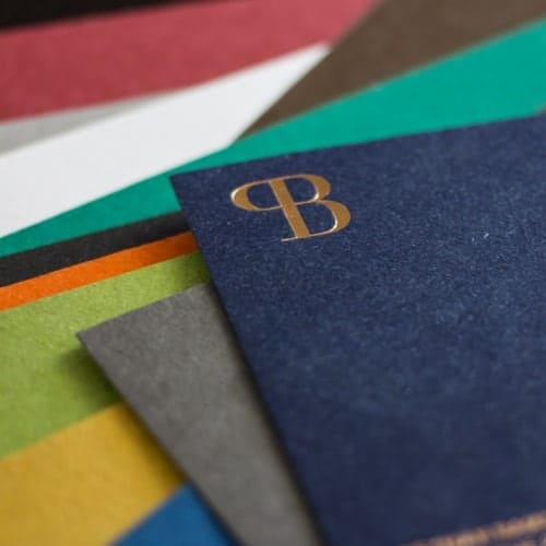 Altpapier les naturals farbige karten visitenkarten