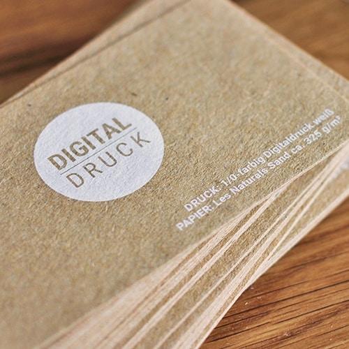 Visitenkarten Auf Recyclingpapier Drucken Die Papierveredler