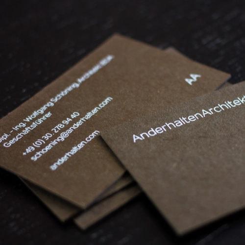 les naturals farbige karten visitenkarten mit Siebdruck weiß