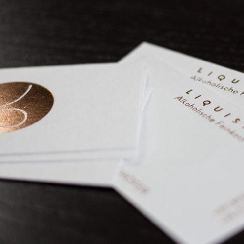 Altpapier les naturals karten visitenkarten mit Heißfolie