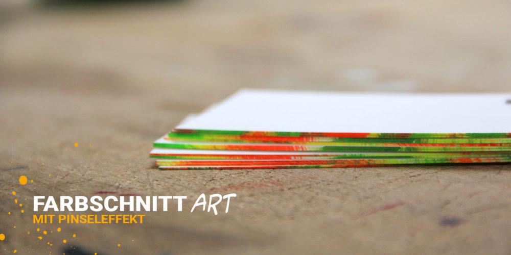 Veredelte Visitenkarten mit exklusiven Farbschnitt in Sonderfarben - Druckerei Berlin Brandenburg