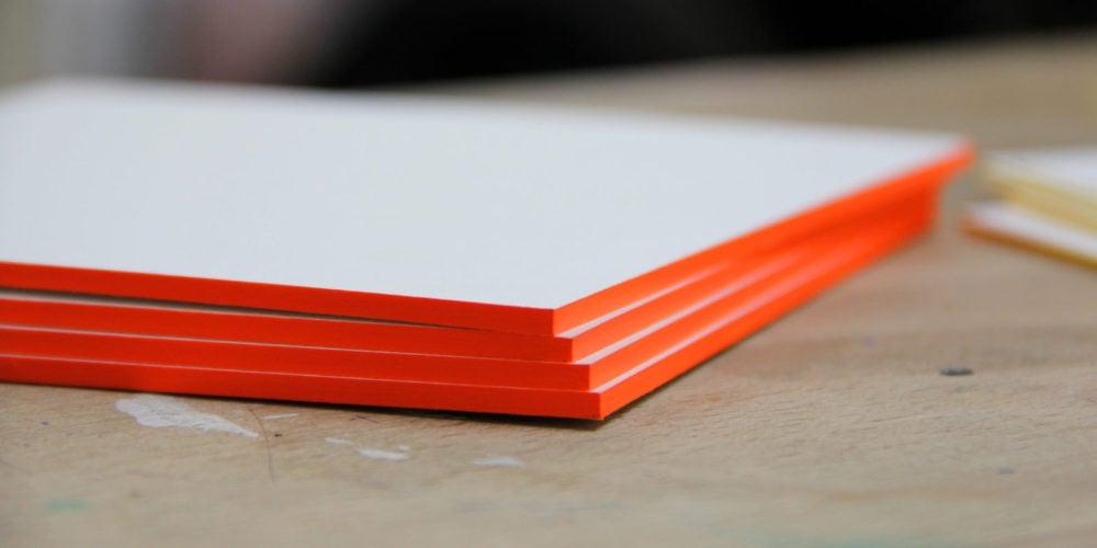 Starke Karten mit Farbschnitt - Farbschnitt Berlin Brandenburg