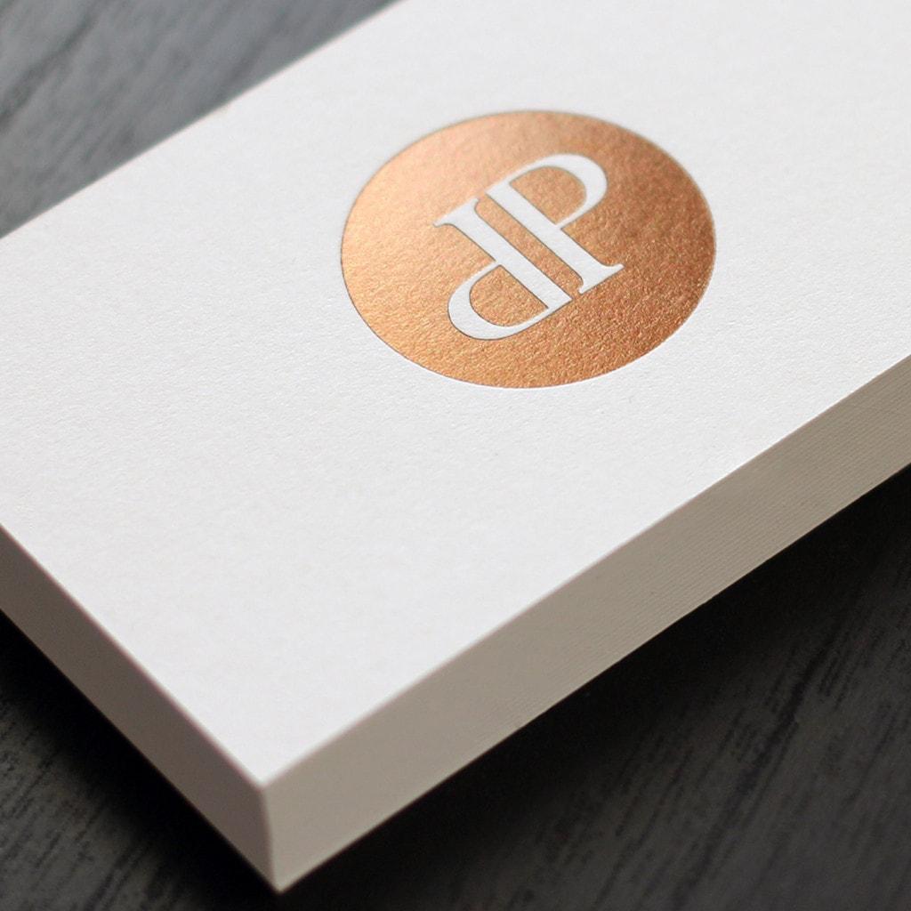 Visitenkarten Mit Folienprägung Die Papierveredler