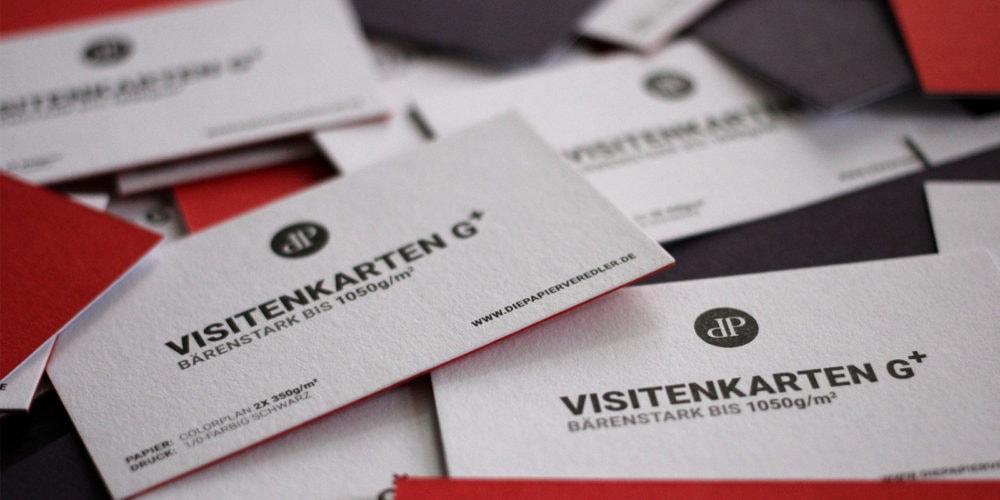 kaschierte Visitenkarten Karten mit durchgefärbten Kartons