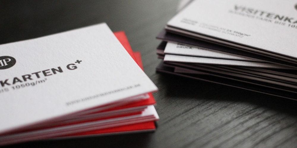 Colorplan Visitenkarten Sandwichkarten zweilagig durchgefärbt