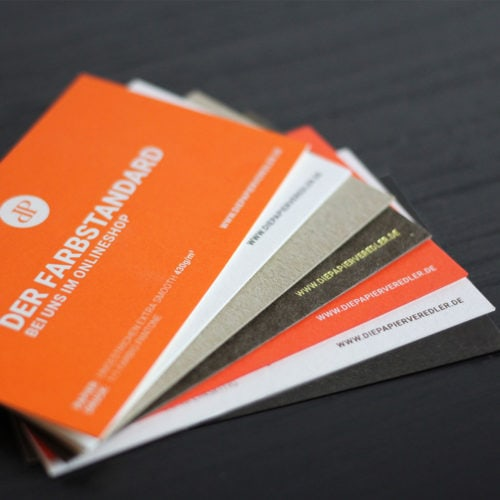 Muster Visitenkarten veredelt - Druckerei Berlin Brandenburg