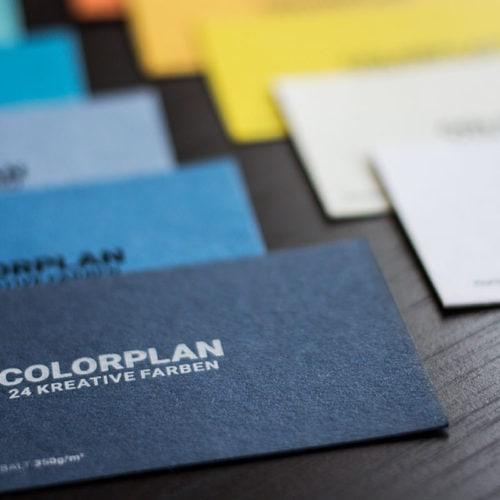 Visitenkarten mit farbigen Kartons - Colorplan Papiere