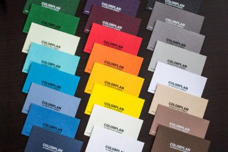 Visitenkarten mit farbigen Kartons Colorplan