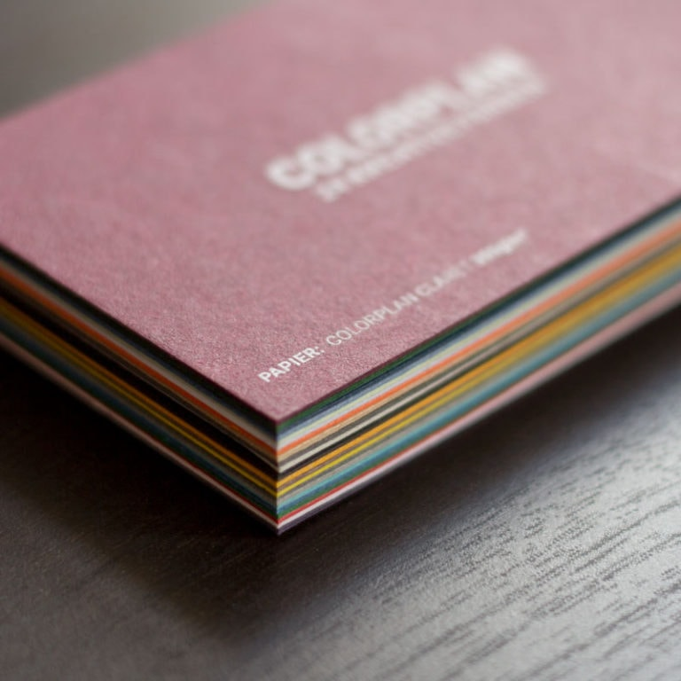 Durchgefärbte Farbige Visitenkarten Die Papierveredler