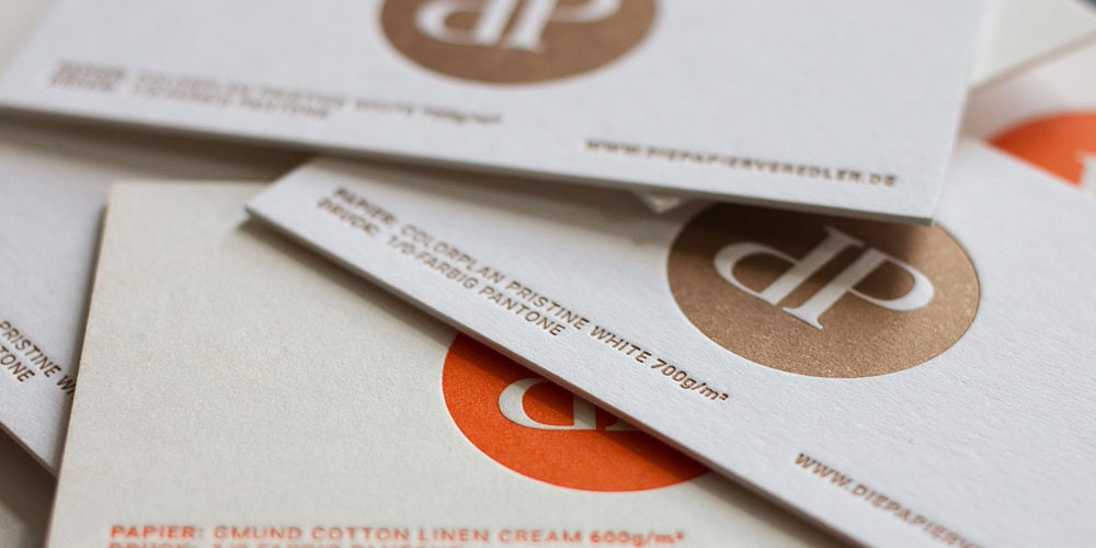 Visitenkarte mit Letterpress Sonderfarbe - Letterpress Berlin Brandenburg