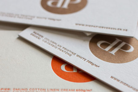 Visitenkarten mit Letterpress Sonderfarbe