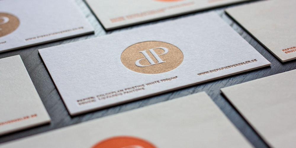 Let It Press Letterpress Visitenkarten Die Papierveredler