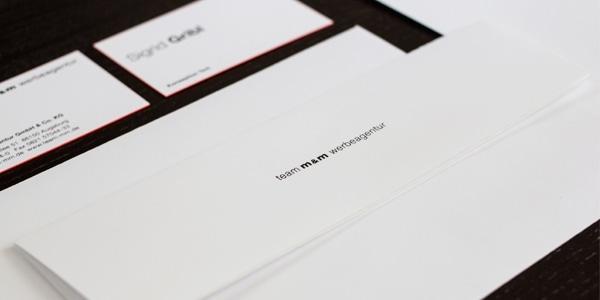 CI Ausstattung Metapaper extrarought mit Folienprägung schwarz und Farbschnitt Pantone