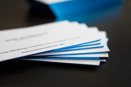 Colorplan Visitenkarten kaschiert mit Folienprägung