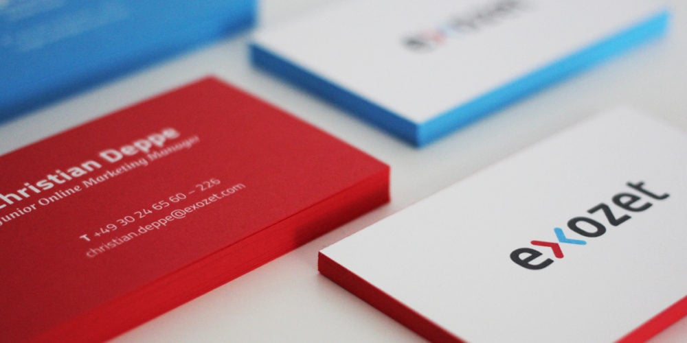 Visitenkarten mit Farbschnitt Sonderfarbe