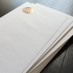Umschläge und Kuverts mit Heißfolienprägung