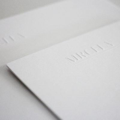 Karten mit Blindprägung