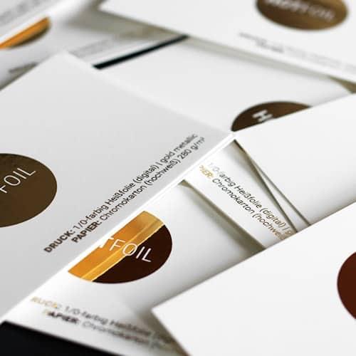 Visitenkarten Mit Heißfoliendruck Digital Die Papierveredler