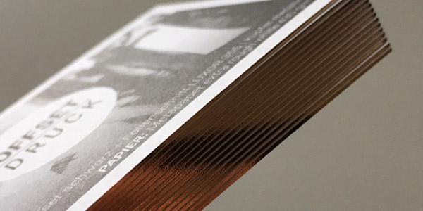 Folienschnitt Folienfarbschnitt Veredelungen