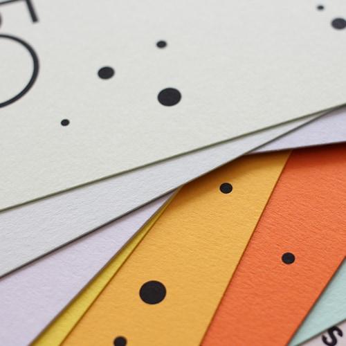 Colorplan Karten farbige Papiere mit Schwarzdruck