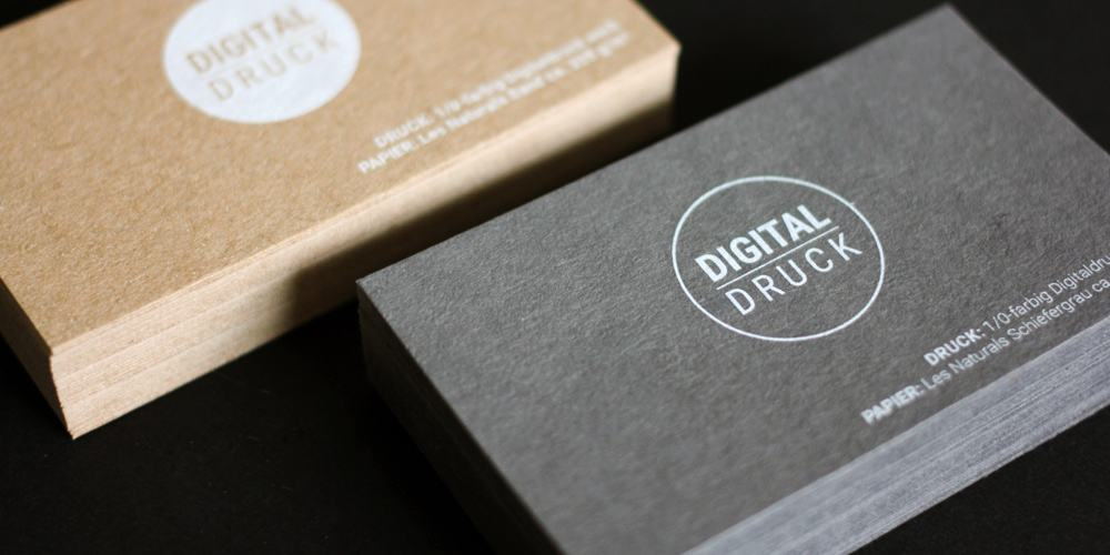digitaler weissdruck white ink cards businesscards visitenkarten les naturals