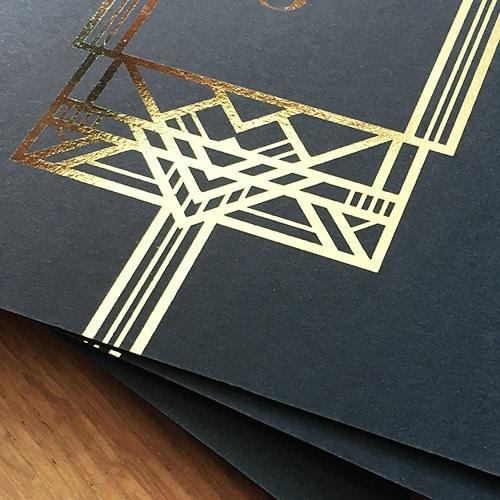 schwarze Karten mit gold Folie