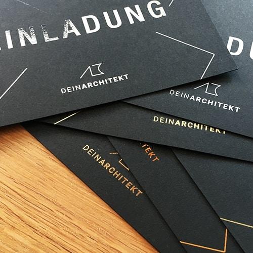 schwarze Karten DIN A6 mit metallic Folie