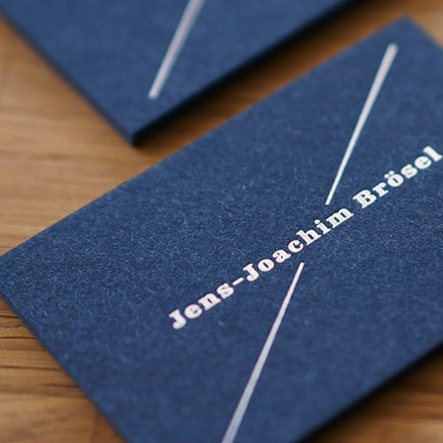 Les Naturals recycelte Visitenkarten