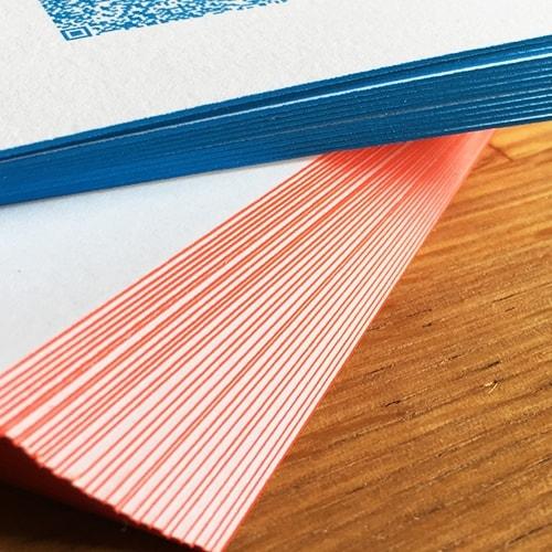 Visitenkarten Farbschnitt Pantone