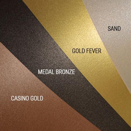 metallisches Papier majestic Farben gold kupfer bronze sand