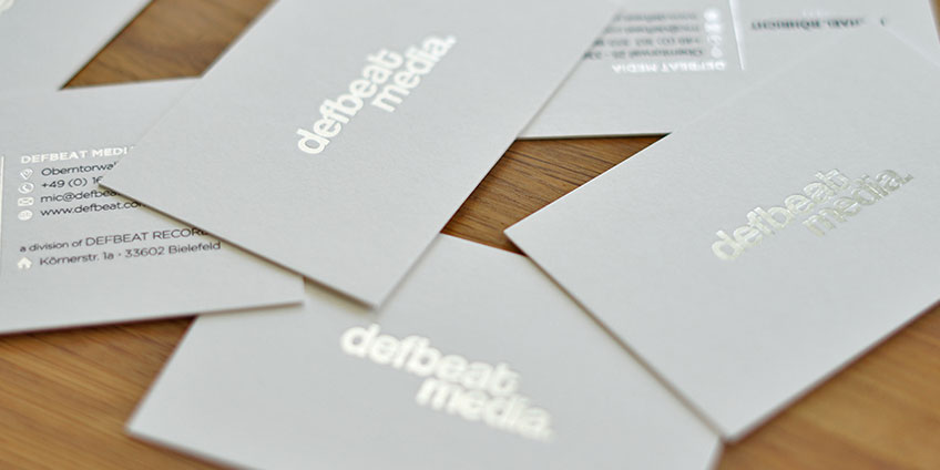 Liebling Der Woche Defbeat Media Visitenkartenset