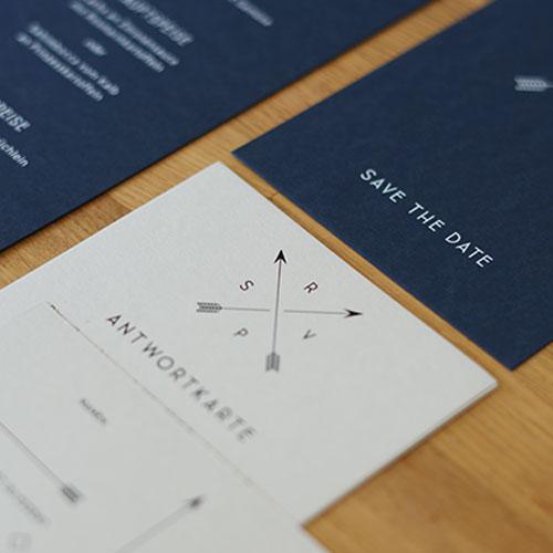 Hochzeitskartenset