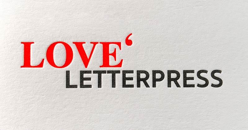 Letterpress Buchdruck